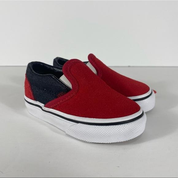 Vans Other - Vans Classic Slip-On Suede & Suiting Sneakers